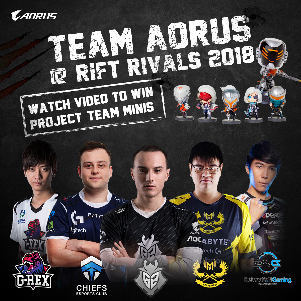 AORUS Join Forces in Rift Rivals 2018 Giveaway Event