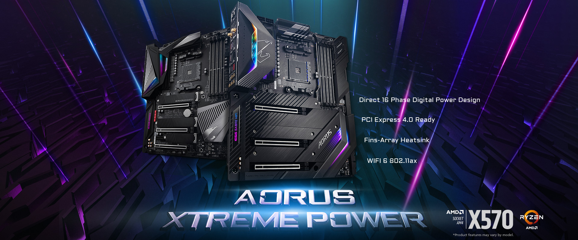 GIGABYTE Advances To PCIe 4.0 With X570 AORUS Motherboards